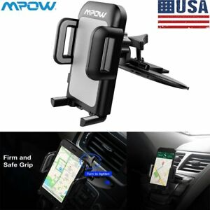 Mpow 360 Car Cd Slot Holder Mount Stand Cradle For Iphone 7 8 X Samsung Galaxy