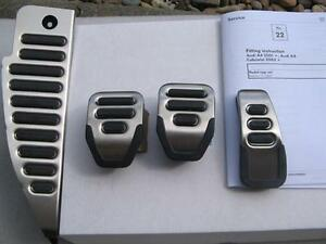 Audi Rs4 Original Pedal Set And Dead Pedal Cover Footrest For A4 Rs4 Manual Cars