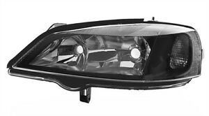 Left Side Black Clear Finish Headlight For Opel Astra G 98 04 For Elec Lwr