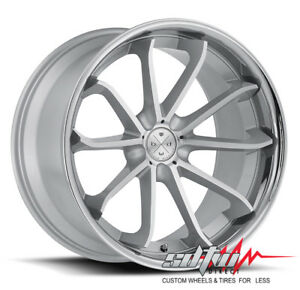 20 Bd23 Blaque Diamond Wheels Silver Machined Chrome Fits Mustang Hyundai Lexus