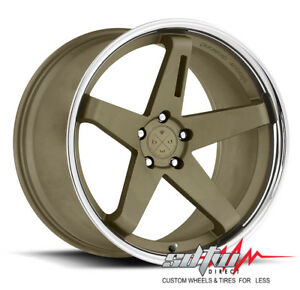 20 Bd21 Blaque Diamond Wheels Matte Bronze Chrome Lip Fits Mustang Honda Lexus