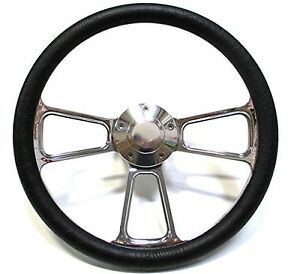 1968 1969 Dodge Dart Chrome And Black Steering Wheel Full Install Kit