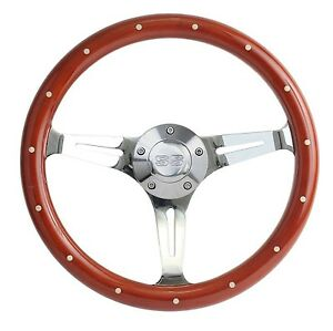 New World Motoring 1967 Camaro Mahogany Chrome Steering Wheel Ss Horn Bi