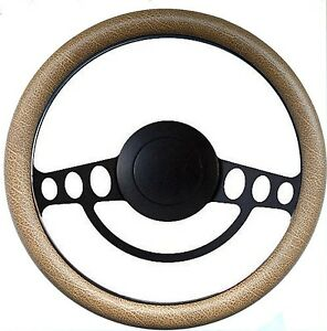 Hot Rod Or Street Rod Nostalgia Tan Pbk Billet Steering Wheel Horn Adapter