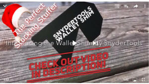 10 Wallet Shim Lockout Tool Entry Locksmith Stocking Stuffer