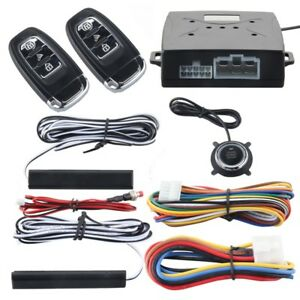 12v Universal Pke Car Alarm System Keyless Entry Push Button Engine Start Remote
