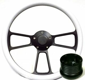 Hot Rod Street Rod Rat Rod Truck White Pbk Billet Steering Wheel Horn Adapter