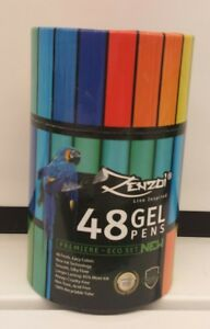 Gel Pens Coloring Glitter Pens Ink For Adult Coloring Books By Zenzoi dd