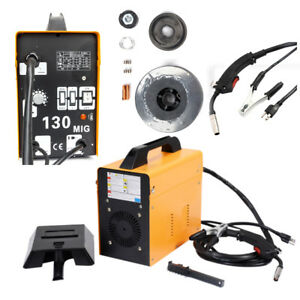 Mig 130 Welder Flux Core Wire Automatic Feed Welding Machine W Mask 2 Tips