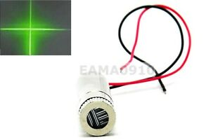 Cross Focusable 515nm 520nm 50mw Grass Green Laser Diode Module Dc3 2v 12x35mm
