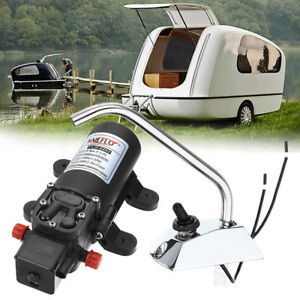 Galley Electric High Pressure Diaphragm Water Pump Faucet Kit For Caravan Boat