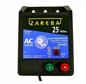 Zareba Eac25m z Ac Low Impedance Fence Charger 25 Mile