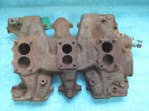 1960 Pontiac Super Duty Cast Iron Tri Power Intake Manifold 1117