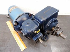 Pacific Scientific Gear Reducer 500 1 1 4 Hp Dc Electric Motor 3 5 Rpm 90 Vdc