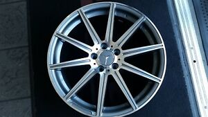 Set 4 Mbz E S Class New Amg Replica Wheels 19 Silver gunmetal With Used Tires