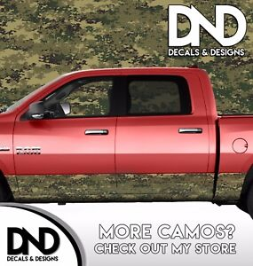 Camo Digital Marine Rocker Panel Wrap Graphic Decal Kit Truck Camouflage