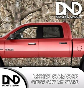 Camo Obliteration Original Rocker Panel Wrap Graphic Decal Kit Truck Camouflage