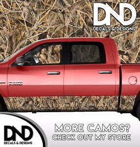 Camo Tallgrass Duck Rocker Panel Wrap Graphic Decal Kit Truck Hunting Camouflage