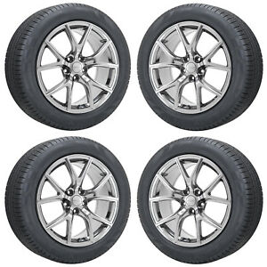 20 Jeep Grand Cherokee Srt Pvd Chrome Wheels Rims Tires Factory Oem Set 9173