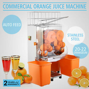 Commercial Electric Orange Squeezer Juicer 120w Dirnk Shop Auto Feed Hotels Bar