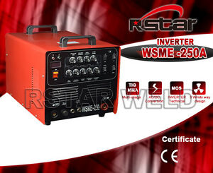 Rstar Inverter 4in1 Ac Dc Tig Arc 250amp Aluminum Welding Machine