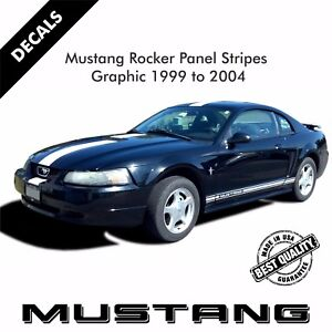 Ford Mustang Rocker Panel Door Side Stripes Decals Stickers Set 1999 2004 34