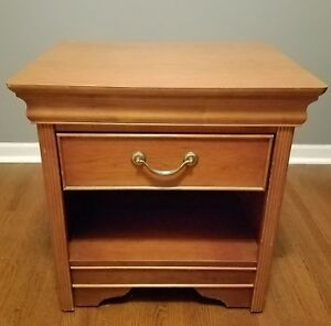 Vtg American Of Martinsville Mid Century Danish Modern Bedroom Night Stand Table