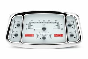 Dakota Digital 33 34 Ford Car Gauges Silver Alloy Face Red Display Vhx 32f S R