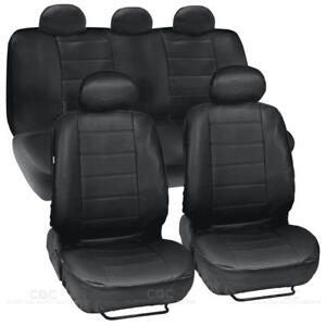 Prosyn Black Leather Auto Seat Covers For Honda Accord Sedan Coupe Full Set
