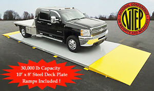 10 Ft X 8 Ft Truck Scale 30 000 Lb Ntep Legal For Trade Axle Scale Car Scales