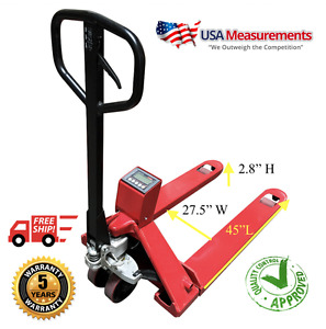 Pallet Jack Scale 5000 Lb X 1 Lb Optima Op 918e Warehouse Free Shipping