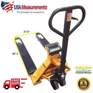 5 Year Warranty Pallet Jack With Built In Scale 5 000 Lb X 1 Lb