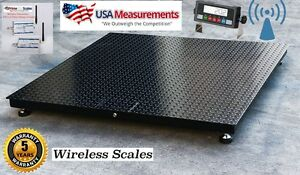 Wireless Floor Pallet Scale 60 X 60 5 X 5 4 500 Lb No Cables
