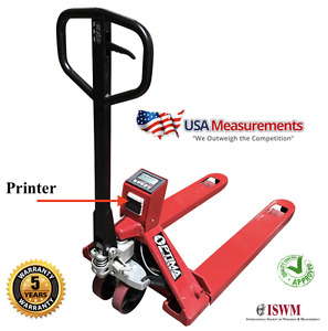 5 Year Warranty Pallet Jack Scale With Built in Printer 5 000 Lb X 1 Lb