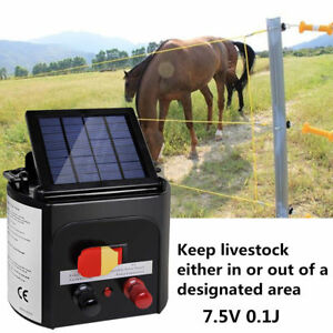 8km Solar Power Electric Fence Energizer Charger Fencing Energiser Horse Farm