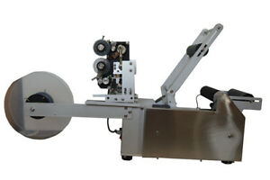 Semi automatic Round Bottle Labeling Machine With Code Printer