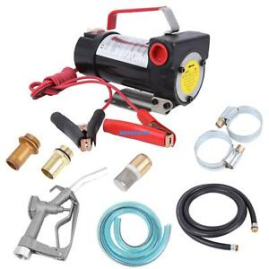 11gpm 12v Dc Fuel Diesel Kerosene Cast Fuel Oil Transfer Pump Kit W Nozzle Hose