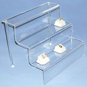 Acrylichomedesign Display Stand Step Riser 3 Tier Riser Durable acrylic