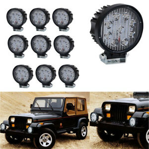10x4 Round Tractor Tow Truck Equipment Work Light Flood Snow Plow Skid Steer gm