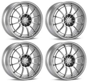Enkei Silver Nt03 M In Silver Set Of 4 18x9 5 Rims 5x108 40mm For Focus St Rs