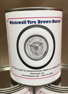 Truespoke White Wall Tire Brown Stain Remover And Cleaner 32 Oz Can Whitewalls