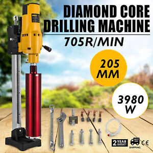New Diamond Concrete Core Drill Machine Vertical Stand Press Drilling