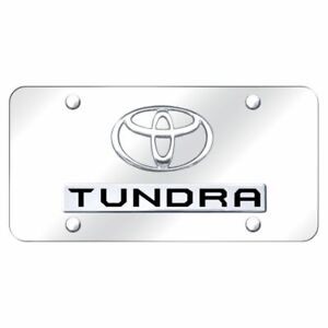 Toyota Tundra Chrome Front License Plate Trd Novelty Logo Stainless Steel