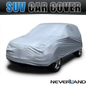 Universal Waterproof Outdoor Full Car Suv Cover Sun Uv Resistant For Bmw X3 X5