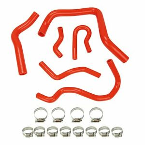Silicone Radiator Hose Kit For Honda Civic Ek Eg Ex Si Sohc D15 D16 92 00 Red