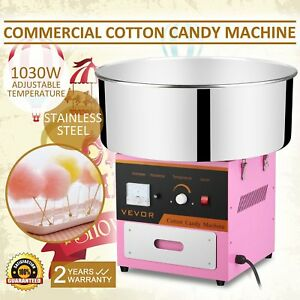 New Electric Cotton Candy Machine Pink Floss Carnival Maker Party Commercial 21