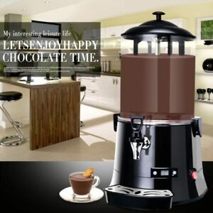 10l Hot Chocolate Machine Electric Dispenser Bain Marie Mixer Wine 220v 400w