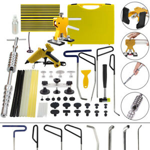 Us Pdr Tool Dent Puller Hail Rods Paintless Repair Removal Led Line Board Hammer