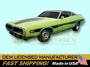 1973 1974 Dodge Charger Rallye Decals Stripes Kit