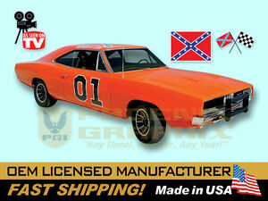 1968 1969 1970 Dodge Charger General Lee Complete Decals Stripes Graphics Kit